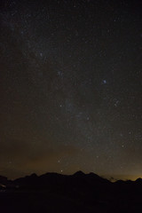 Staring at Milky Way from a Hill