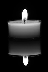 Candle, Black and White