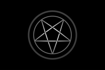 pentagram in circle  vector