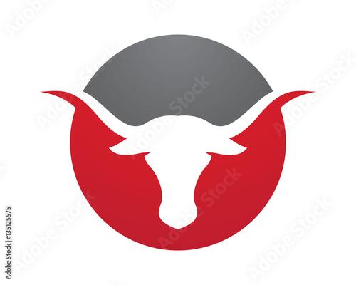 red bull taurus logo template vector icon illustration stock image