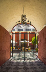 Entrance to Courtyard in Arequipa, Peru.
