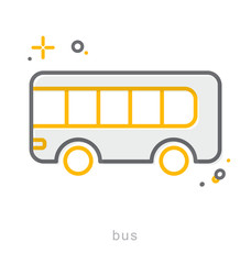 Thin line icons, Bus