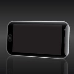 Smart phone realistic vector illustration.