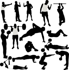 Men recreational sport collection - vector