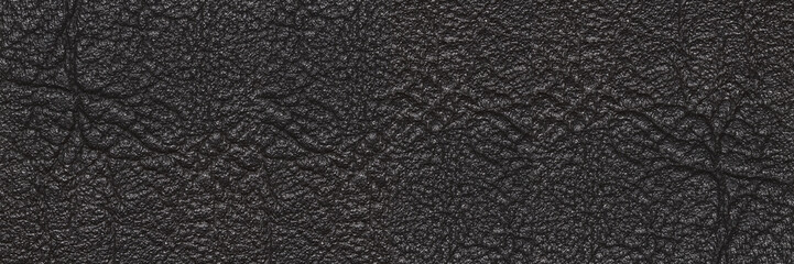 luxury horizontal black leather texture for pattern and backgrou