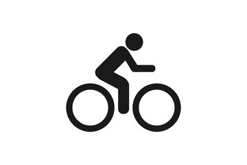 bike  icon   on white background Wall mural