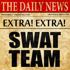 swat team, newspaper article text