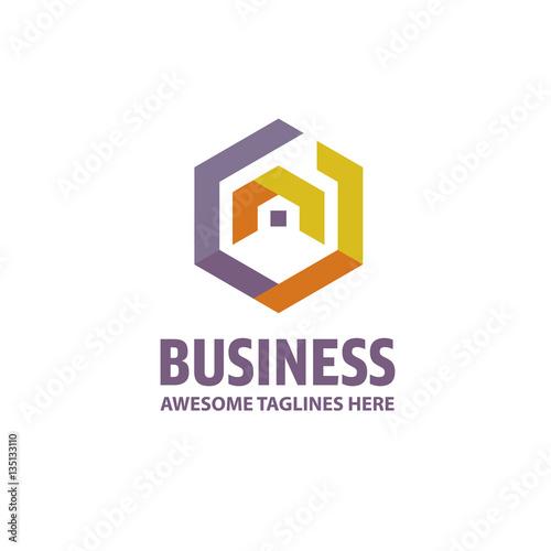 Creative Real Estate Logo, Property And Construction Logo Design Vector ,  Colorful Homes Logo Concept