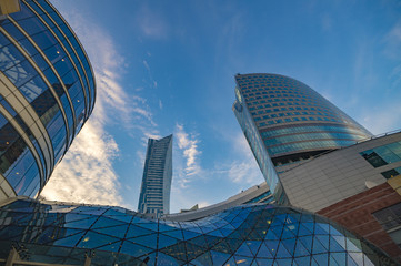 Warsaw,Poland October 2016:Warsaw city with skyscrapers
