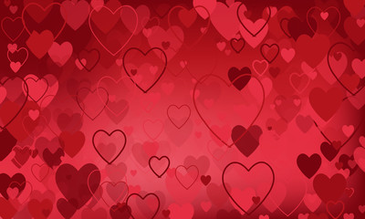 vector background with hearts, Valentine's Day