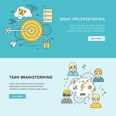 Ideas Implementation, Team Brainstorming Concepts