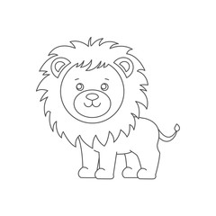 Lion for coloring book.