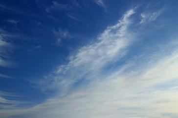 爽やかなスジ雲と青空