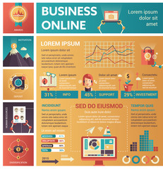 Business Online - poster, brochure cover template