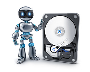 Robot and HDD