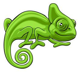 Chameleon Cartoon Character