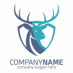 Deer logo icon vector template