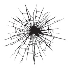 Broken glass. Vector drawing