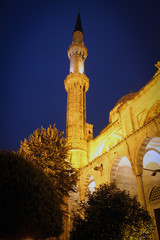 Suleymaniye Mosque by night, Istanbul, Turkey