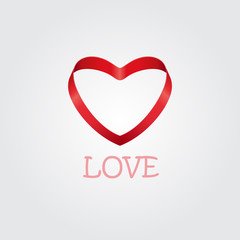 Logo heart shape design