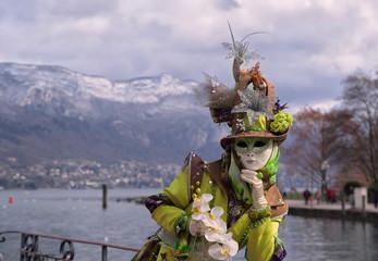 costume magnifique au carnaval d'Annecy