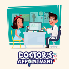 doctor talking with female patient. doctor's appointment concept