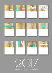 2017 vector calendar