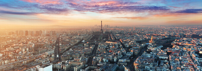 Printed kitchen splashbacks Paris Paris skyline - panorama