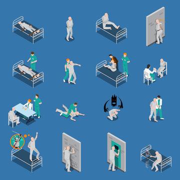 Mental Patients Isometric Set