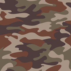 Camouflage pattern background seamless clothing print, repeatable camo glamour vector
