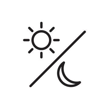 sun and moon icon illustration