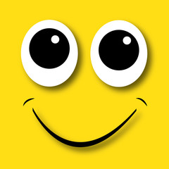 happy face yellow background