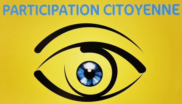 panneau d'information de participation citoyenne