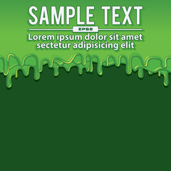Green Liquid Banners. Vector Illustration