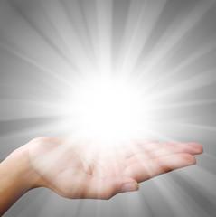 Hands of Light - Religious Concept