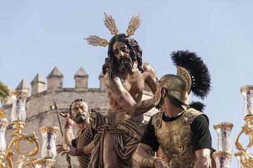 Semana santa de Sevilla, hermandad de las Cigarreras, Jesús atado a la columna