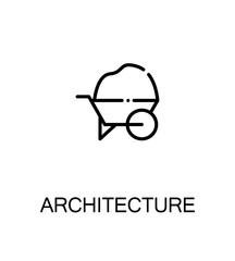 Architecture icon or logo for web design.