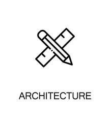 Architecture icon or logo for web design.
