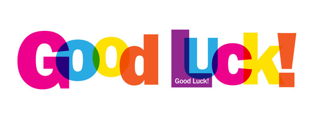 """GOOD LUCK"" Banner Card"