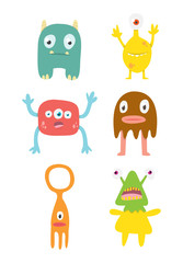 Vect or Set of Cute Monsters
