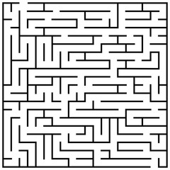 Maze puzzle, labyrinth brain teaser kids game vector illustration