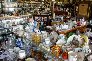 Shop filled with collectables and junk Wall mural