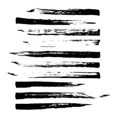 Vector sketch brush strokes