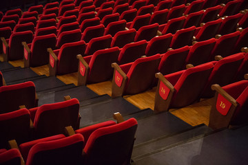 theater, cinema, chairs, rehearsal