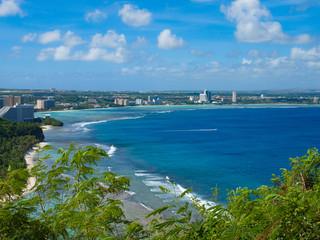 Coral and blue ocean in Guam 南の島(グアム)の青い海とサンゴ礁