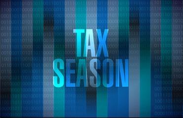 tax season binary background concept