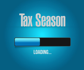 tax season loading bar sign concept.