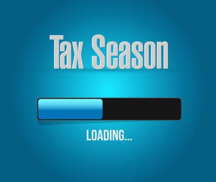 tax season loading bar sign concept.