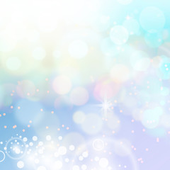 Defocused abstract bokeh lights background