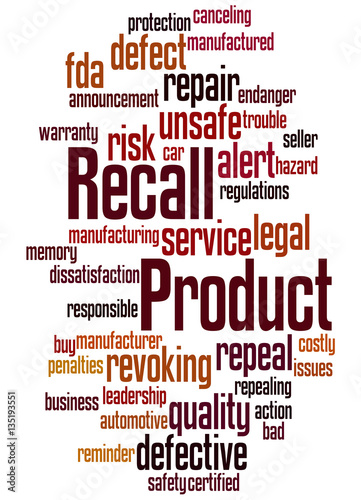 Product Recall Word Cloud Concept 3 Stock Photo And Royalty Free